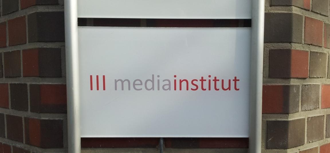mediainstitut Schild