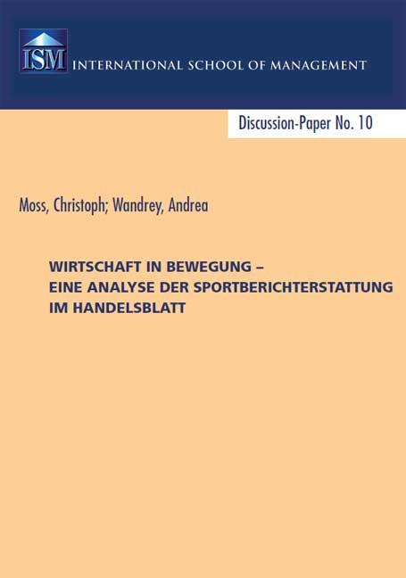 Christoph Moss, Andrea Wandrey: Sportberichterstattung im Handelsblatt