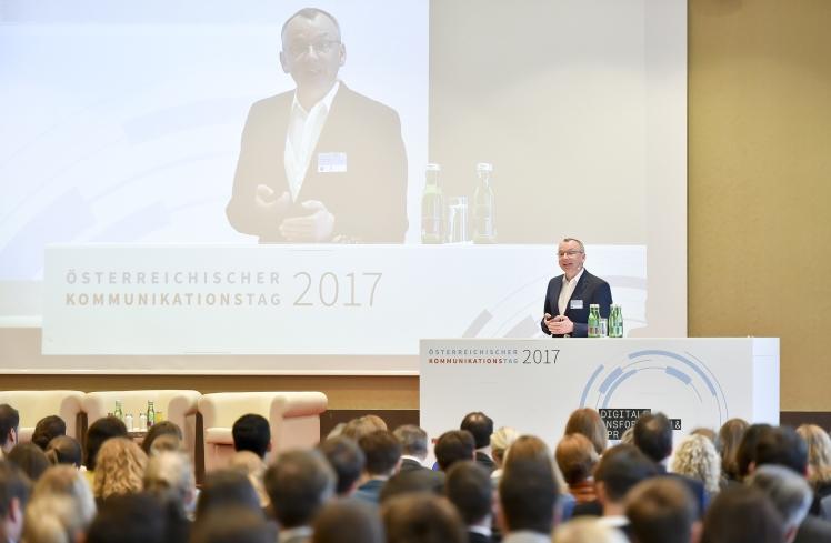 Österreichischer Kommunikationstag 2017 Christoph Moss Newsroom